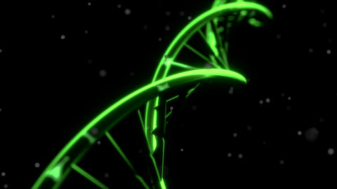 DNA spinning RNA double helix slow tracking shot closeup depth of field 4K Footage