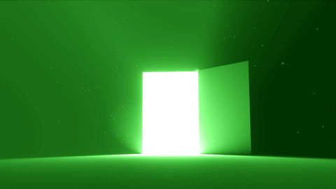 Door open to bright light new opportunity epiphany afterlife 4K Footage