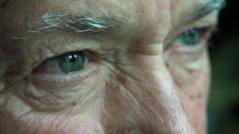 pensive elderly man: thoughtful elderly man, sad old man Footage