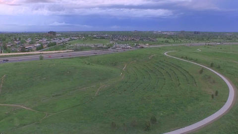 Aerial view of Parker Footage