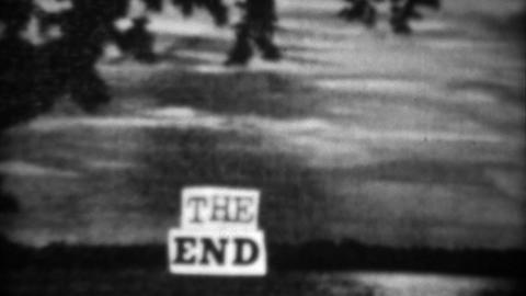 1937: Vintage homemade crafted the end closing title screen scene Footage