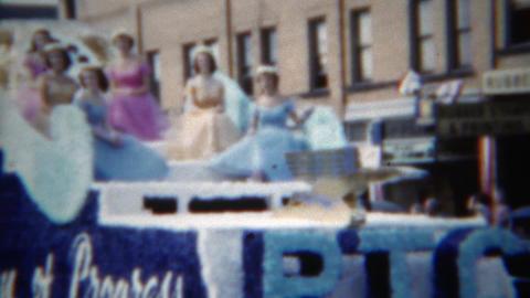 1951: PTC globalists century of progress parade idyllic propaganda float Footage