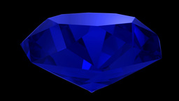 Sapphire blue diamond gemstone gem stone spinning wedding background loop 4K Footage