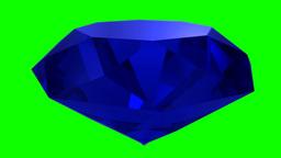 Sapphire blue diamond gemstone gem stone spinning wedding background loop 4K Footage