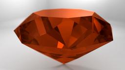 Amber Orange Gemstone Gem Stone Spinning Wedding Background Loop 4K stock footage