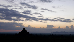 Timelapse of clouds over Temples with Dhammayangyi Pahto,Bagan,Burma Footage