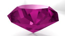 Pink ruby diamond gemstone gem stone spinning wedding background loop 4K Footage