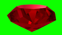 Ruby Red Gemstone Gem Stone Spinning Wedding Background Loop 4K stock footage