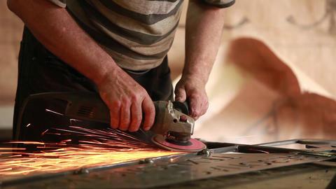 Hand sanding sander Footage