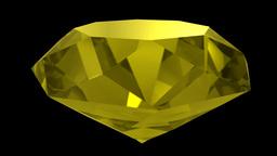 Yellow sapphire gemstone gem stone spinning wedding background loop 4K Footage