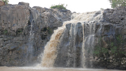 Tad Lo Waterfall, closer look,Tad Lo,Laos Footage