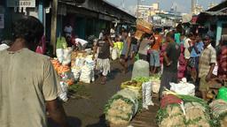 Busy Manning market,Colombo,Sri Lanka Footage