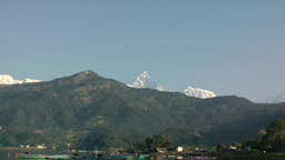 Zoom Out From Machapuchare,Pokhara,Nepal stock footage