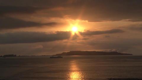 Caribbean Beach Sunset 04 Footage