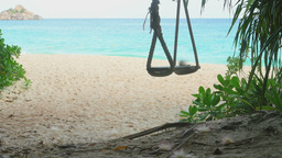 A rope swings on the beach Footage