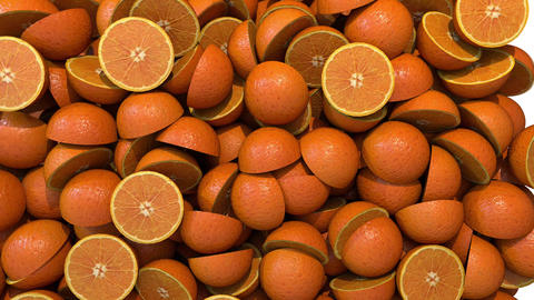 Oranges segments slices fill screen transition composite overlay element 4K Footage