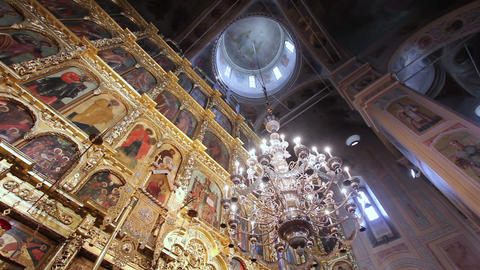 The interior of the church Footage