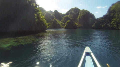 Sail boat floats on sea Footage