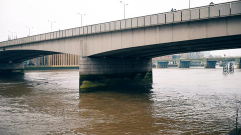 Two bridges on the Thames River Footage