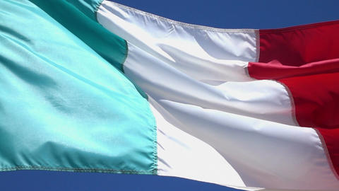 Video of Italian Flag in real slow motion Footage