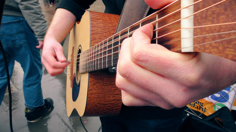 Guitarist plays guitar Footage