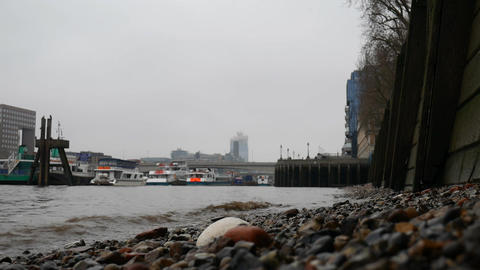 View from the shore of the Thames Footage
