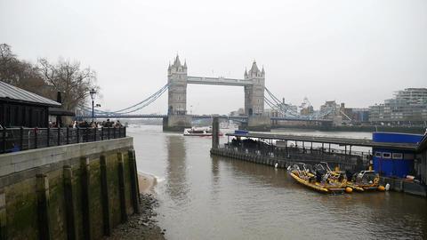 Ancient stone bridge on the Thames Footage