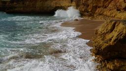 Waves splashing at the shore, time lapse Footage