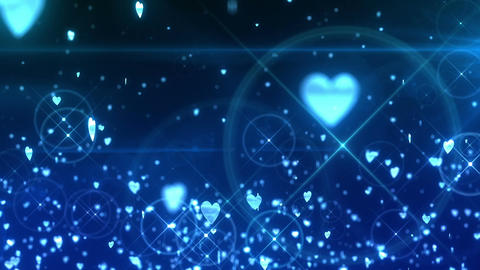 SHA Hearts Image Effects Blue CG動画