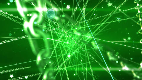 SHA Chain Particle Effects Green CG動画
