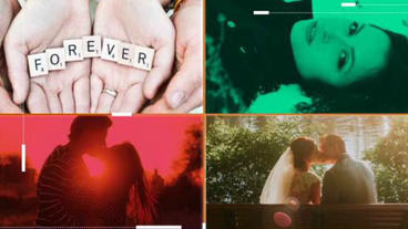Colorful Wedding Slideshow After Effects Project