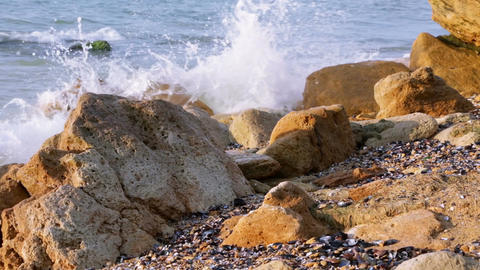 Small Surf on the Stony Shore Footage