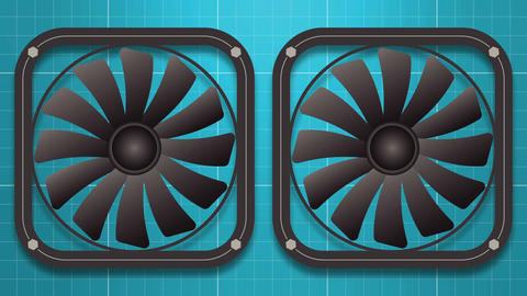 Two electric fans Animación