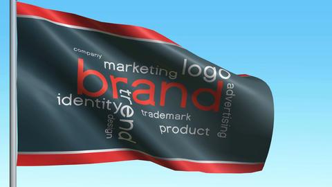 Brand flag Animation