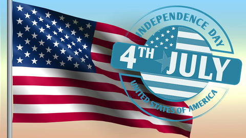 4th of july American independence day Animation