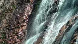 Thailand Ko Samui Island 017 the flowing of the waterfall in close up Footage