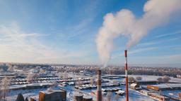 Thermal power plant, boiler house ビデオ