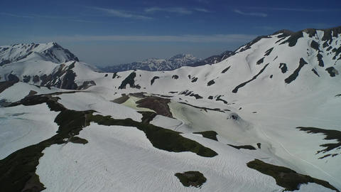 Aerial view of Tateyama mountains covered with snow Footage