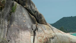Thailand Ko Samui Island 024 lying phallus rock close up Footage