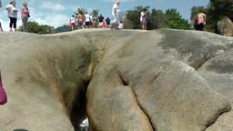 Thailand Ko Samui Island 025 grandmother rock close up from below Footage