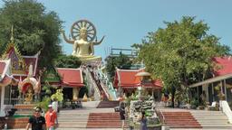 Thailand Ko Samui Island 033 overview Wat Phra Yai temple Footage