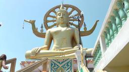 Thailand Ko Samui Island 037 Big Buddha Statue and the circle of life Footage