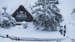 Snowing Sirakawa-go 4K9280-9679 Footage