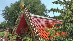Thailand Ko Samui Island 044 roof of a thai temple building Footage