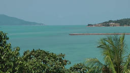 Thailand Ko Samui Island 043 view into a bay from above Footage