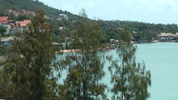 Thailand Ko Samui Island 041 trees and bay of the peninsula Footage