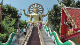 Thailand Ko Samui Island 046 stairs of the truth, big buddha, circle of life Footage