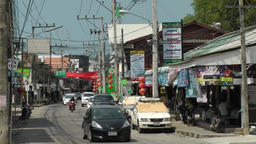 Thailand Ko Samui Island 057 shopping street near the harbor Footage