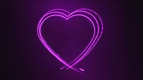 Drawing Heart Shape Motion Background Animation - Loop Purple Animation