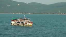 Thailand Ko Samui Island 091 passenger boat drifts in front of the coast Footage